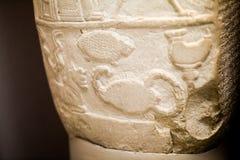 29 07 2015年,伦敦,英国,大英博物馆-巴比伦界限石头, Sippar南伊拉克 免版税图库摄影
