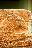 29 07 2015年,伦敦,英国,大英博物馆-腓尼基人雕刻了细节 免版税库存照片