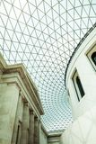29 07 2015年,伦敦,英国-大英博物馆视图和细节 库存照片