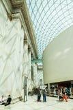 29 07 2015年,伦敦,英国-大英博物馆视图和细节 免版税库存照片