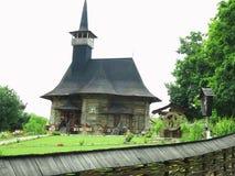 07 06 2018年,摩尔多瓦,基希纳乌:中世纪木教会 免版税图库摄影