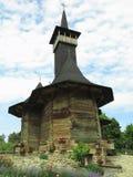 07 06 2018年,摩尔多瓦,基希纳乌:中世纪木教会 免版税库存照片