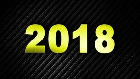 2018年,新年动画,翻译,背景,圈, 4k 向量例证