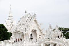 03 04 2017年,清莱,泰国;Wat荣Khun旅游胜地, T 免版税库存照片