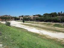 19 06 2017年,罗马,意大利,欧洲:马戏Maximus和勃拉看法  免版税库存照片