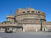 19 06 2017年,罗马,意大利:圣洁天使, Hadrian M的城堡 库存照片