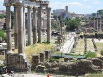 19 06 2017年,罗马,意大利:废墟美丽的景色著名罗马 库存图片