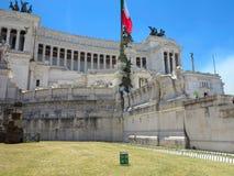 19 06 2017年,罗马,意大利:胜者伊曼纽尔的纪念碑:阿尔塔雷del 免版税库存照片