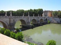 19 06 2017年,罗马,意大利:Sant `对Hadrian Maus的安吉洛桥梁 库存图片