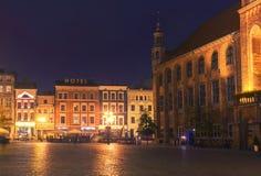 2017年 10 20托伦波兰,老集市广场在托伦 托伦是最旧的城市在波兰,天文学家Nicolaus的出生地 图库摄影