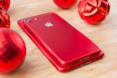 2017年11月 两个智能手机苹果计算机Iphone 7 库存照片
