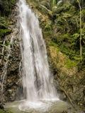2018年11月-张巴克罕,泰国-密林远足将显露美丽的瀑布 库存照片