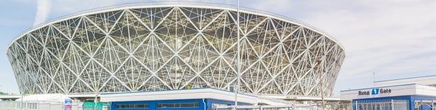 2018年5月23日伏尔加格勒,俄罗斯 新的橄榄球场伏尔加格勒竞技场 免版税库存图片