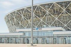 2018年5月23日伏尔加格勒,俄罗斯 新的橄榄球场伏尔加格勒竞技场 免版税图库摄影