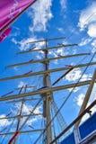 2018年12月27日圣佩德罗,加州 从波兰参观的高帆船 免版税图库摄影
