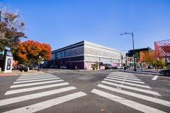 2018年11月25日圣荷西/加州/美国-在沙发的都市风景 免版税库存图片