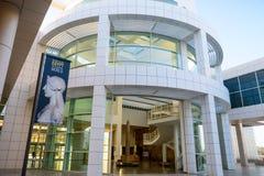 2018年6月8日洛杉矶/加州/美国-格迪中心的博物馆入口;在尼罗之外:给的横幅埃及做广告和 免版税图库摄影