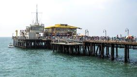 2017年8月12日的圣塔蒙尼卡码头, -圣塔蒙尼卡,洛杉矶, LA,加利福尼亚,加州 库存图片