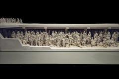 2017年9月14日的耶路撒冷 浩劫浩劫悲剧的muzeum视图通过一个模型在浩劫博物馆在耶路撒冷是 免版税图库摄影