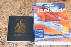 2018年2月01日,伦敦安大略加拿大:说明旅行到有A的冰岛的社论说明照片 免版税库存图片