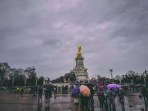 2017年12月28日,伦敦,英国-维多利亚纪念品,对女王维多利亚的一座纪念碑 库存照片