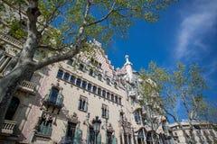 2015年4月11日,住处Amatller和住处Batlo,巴塞罗那 免版税库存图片