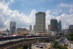 2017年10月28日,吉隆坡 晴天和蓝天自今天 库存图片