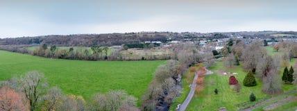 2017年11月17日,奉承,爱尔兰-从奉承城堡的顶端看法 免版税库存照片