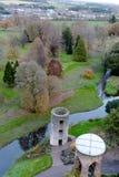 2017年11月17日,奉承,爱尔兰-从奉承城堡的顶端看法 库存照片