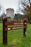 2017年11月17日,奉承,爱尔兰-奉承城堡 免版税图库摄影