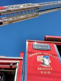 2001年9月11日,尊敬最勇敢,消防车,美国 库存照片