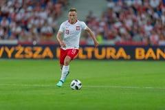 2018年6月8日,波兹南,波兰:国际友好的比赛-波兰对 智利o/p Maciej Rybus 库存图片