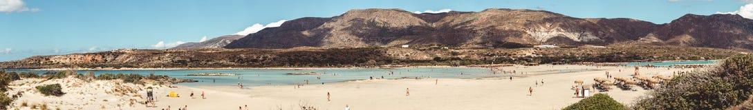 2017年10月1日, Elafonissi,希腊- Elafonissi海滩 免版税库存照片