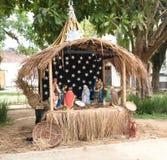 2016年12月11日, Paraty,巴西 圣诞节在Paraty,巴西村庄正方形看  免版税库存照片