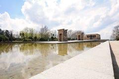 2017年3月24日:Debod寺庙在马德里,西班牙 免版税库存图片