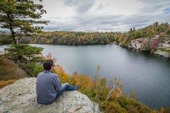 2017年10月17日:Minnewaska国家公园, Kerhonksen, NY 图库摄影