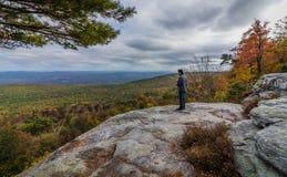 2017年10月17日:Minnewaska国家公园, Kerhonksen, NY 免版税库存图片