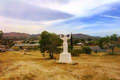 2017年4月7日-丝兰谷,加利福尼亚,美国:`沙漠耶稣基督在丝兰谷,加利福尼亚,美国的公园` 图库摄影