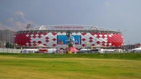 2018年6月23日 俄国 莫斯科 在比赛比利时-突尼斯期间,观看体育场` Spartak ` 影视素材