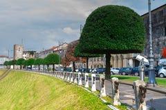 2016年6月11日 意大利-田园诗中世纪City Bassano del Grappa 库存图片