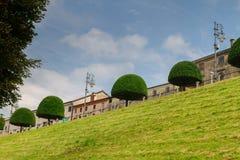 2016年6月11日 意大利-田园诗中世纪City Bassano del Grappa 图库摄影