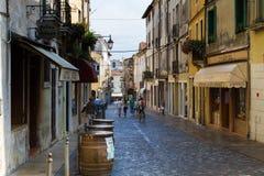 2016年6月11日 意大利-田园诗中世纪City Bassano del Grappa 免版税库存图片