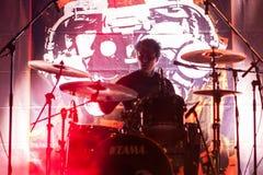 2018年2月4日 萨格勒布,克罗地亚:庞克摇滚乐带在4的英国潜水艇 库存照片