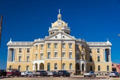 2018年3月6日-马歇尔得克萨斯-马歇尔得克萨斯法院大楼哈里逊市政厅,马歇尔, 法院大楼,状态 免版税图库摄影