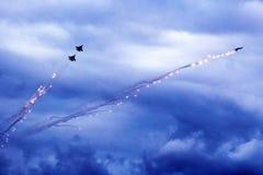 2017年10月21日 Izhevsk,俄罗斯Airshow在城市 免版税库存照片
