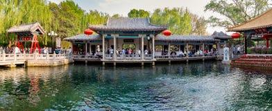 2015年4月-济南,中国-著名Baotu权国在济南 图库摄影