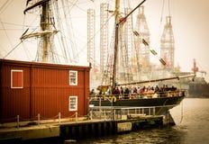 2018年4月5-8, -高船挑战系列,加尔维斯顿,得克萨斯 免版税库存图片