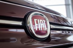 01 2017年8月- Vinnitsa,乌克兰-品牌FIA的商标 库存照片