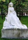 2008年 04 02,巴黎,法国 纪念碑向施滕达尔县 免版税库存照片