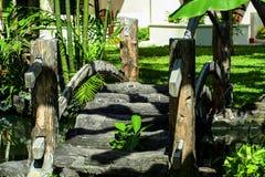 2010年 08 07, Ubud,巴厘岛 旅馆的装饰元素 免版税库存图片